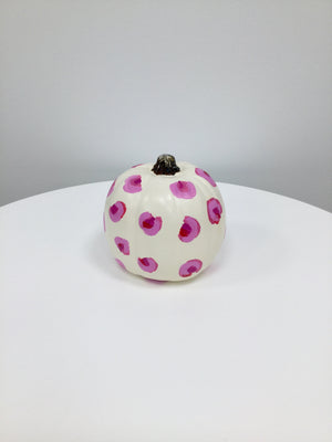 Mini Pumpkin - Matte Natural White with Pink Leopard