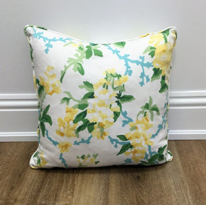 Pair of Chintz Lemon Throw Pillow