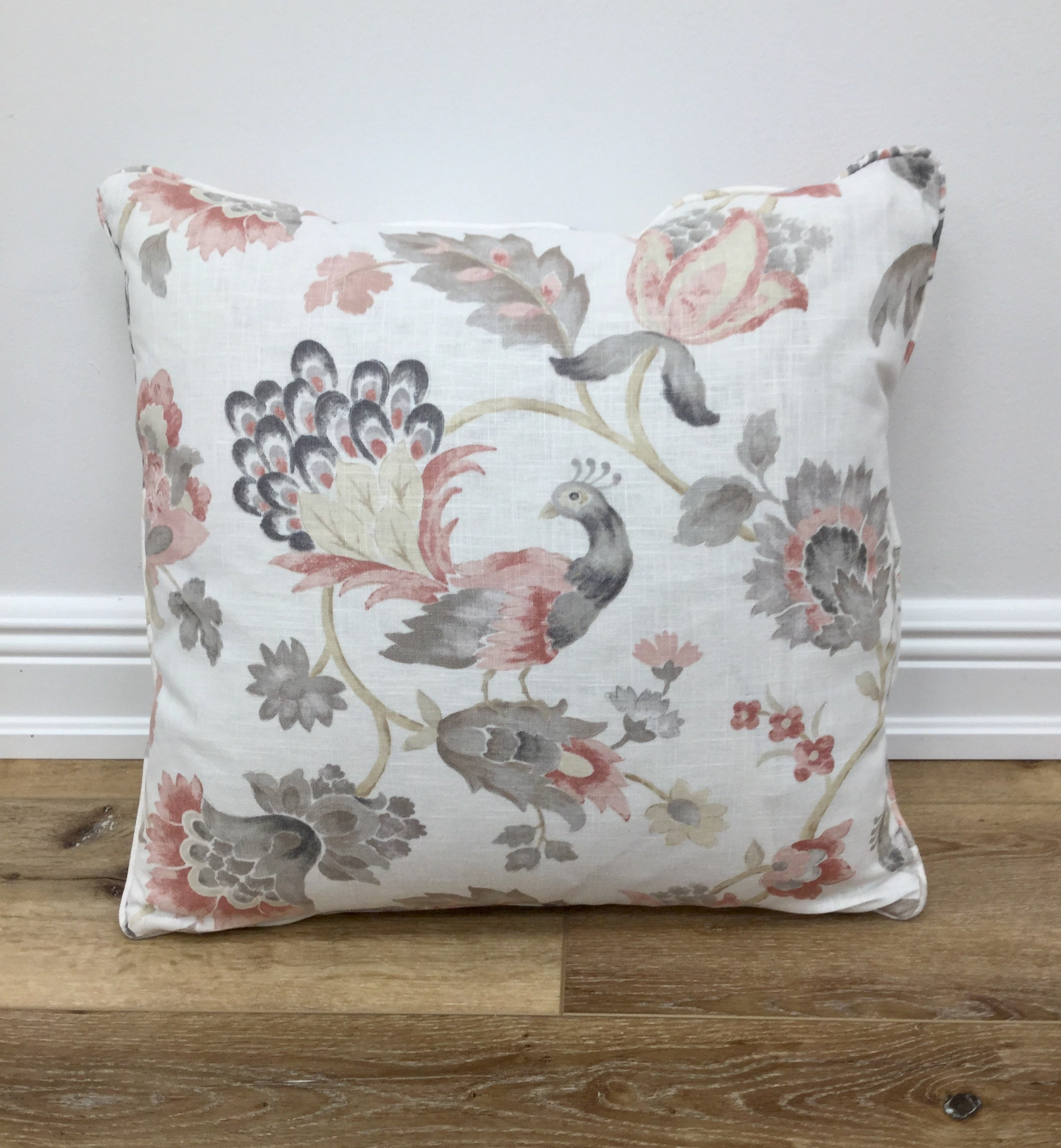 Pair of Ansley Blush Throw Pillow