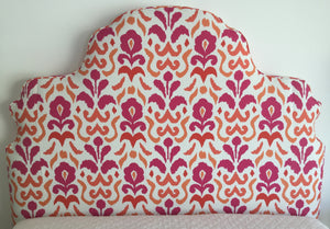 Custom upholstered Scroll Queen Headboard