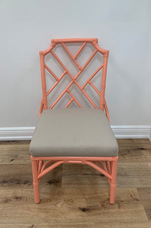 Chippendale Side Chair Coral Reef In Store only