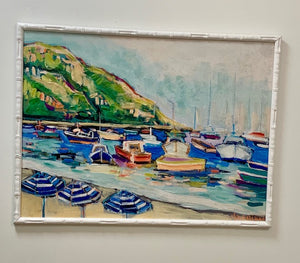 30  x 40 Framed Bamboo Canvas Amalfi Coast