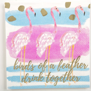 Cocktail Beverage Napkin - Birds Of A Feather Drink Together