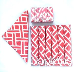 Lattice Napkin Set Coral