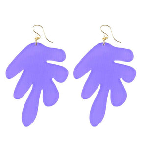 MLxxTP Palm Earrings - Purple Cobalt