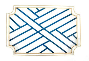 Newport Jaye Tray Blue and White
