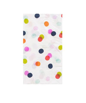 Guest Towels - Colorful Dots on White