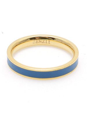 Colored Thin Enamel Banded Ring in assorted colors