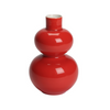 Double Lobed Mini Vase - Coral Red