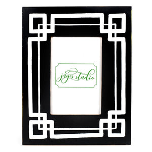 Interlocking Key Picture Frame - Black & White