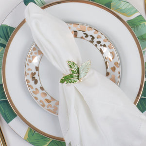 Botanical Palm Leaf Napkin Ring