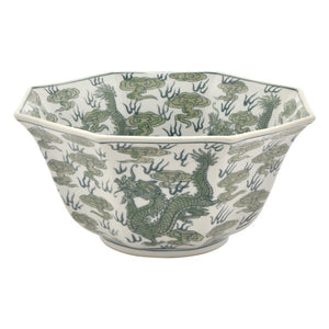 Asian Green and white Bowl #1