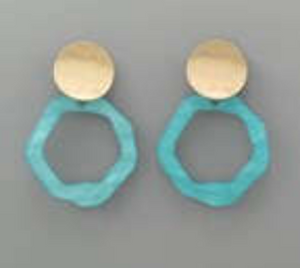Acrylic Wavy Circle & Disc Earrings