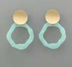 Acrylic Wavy Circle Earrings