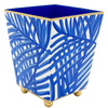 Palm Blue Square Cachepot 6""