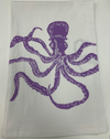 Purple Octo Flour Sack Towel