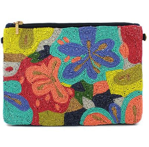 Multi Colored Flower Clutch