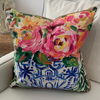22x22 Pillow by Artist: Becca Speight (Chinoiserie Floral #2)