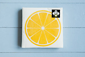 Cocktail Beverage Napkin - Citrus