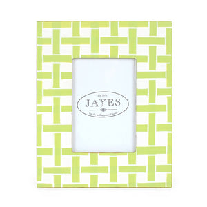Photo Frame - Basketweave Green