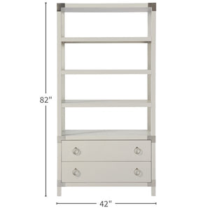 White Two Drawer Etegere