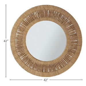 "Woven Wrapped Mirror 42"" In Store Only"