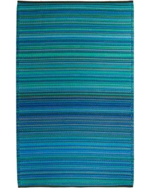 Cancun - Turquoise & Moss Green Rug