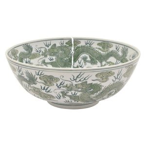 Asian Green and White Bowl #2