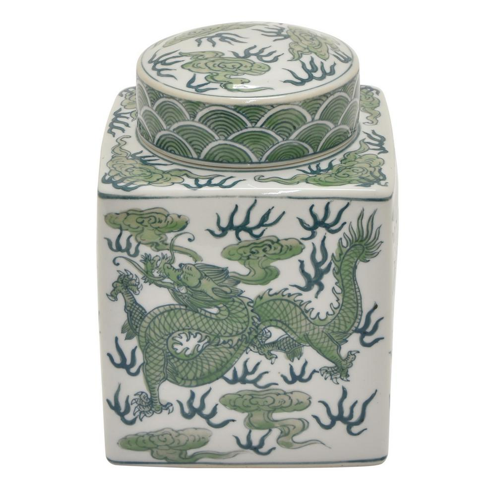 Green Jar with lid