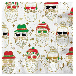 Cocktail Beverage - Napkin Hipster Santa
