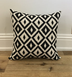 Black and White Aztec Geometric Pillow