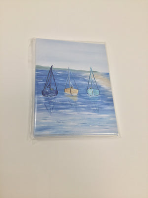 Notecards (5) - Sailboats