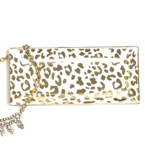 Rectangle Trinket Tray - Leopard
