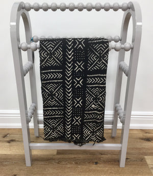 African Black/ White Tapestry Fabric - Mali