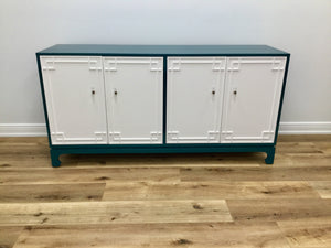 In Store Only Details Four Door Chest - Teal