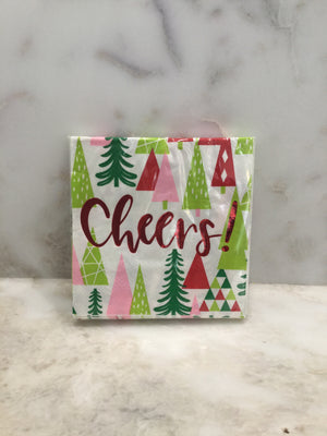 Cocktail Beverage Napkin - Cheers with Trees