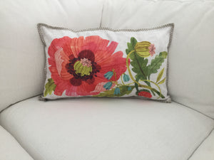 Decorative Floral lumbar pillow