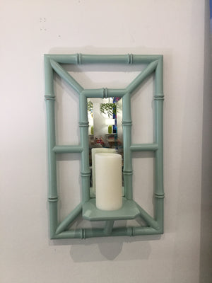 Pair of Island Sconces in Aqua