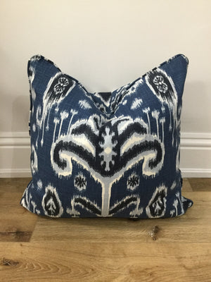Custom Toss Pillow  Martine Indigo