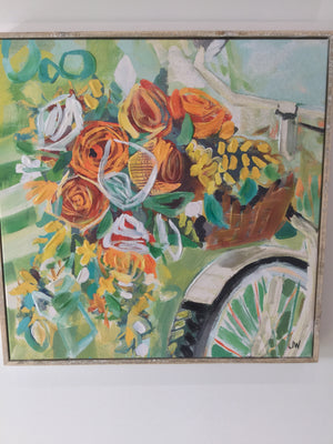Small Bicycle Floral Wall Art