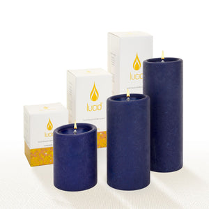Lucid Liquid Indigo Pillar Oil Candle