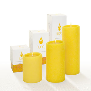 Lucid Liquid Daffodil Yellow Pillar Oil Candle