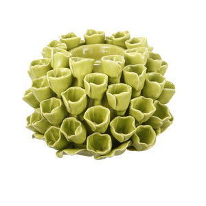 Open Coral Candle Holder- Lime