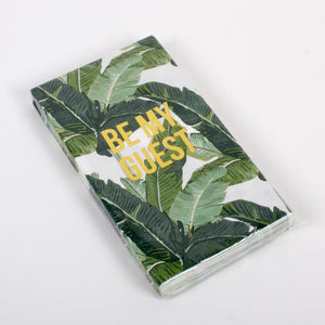 Guest Towels - Be My Guest Botanical Palm Leaf