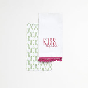 Tea Towel Set - Kiss The Cook