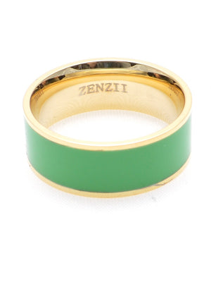 Colored Medium Enamel Band in assorted colors