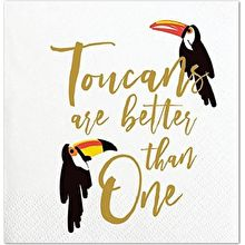 Cocktail Beverage Napkin - Toucans Are Better Than One