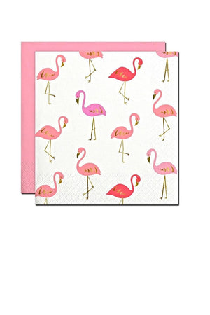 Cocktail Beverage Napkin - Flamingos