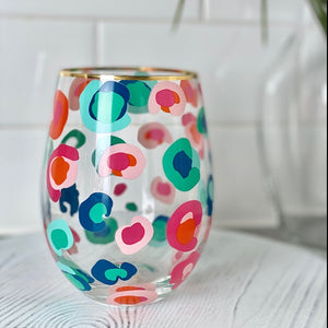 Stemless Wine Glass Confetti Catwalk