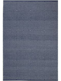 Zen - Dark Blue & Bright White - Cotton Rug